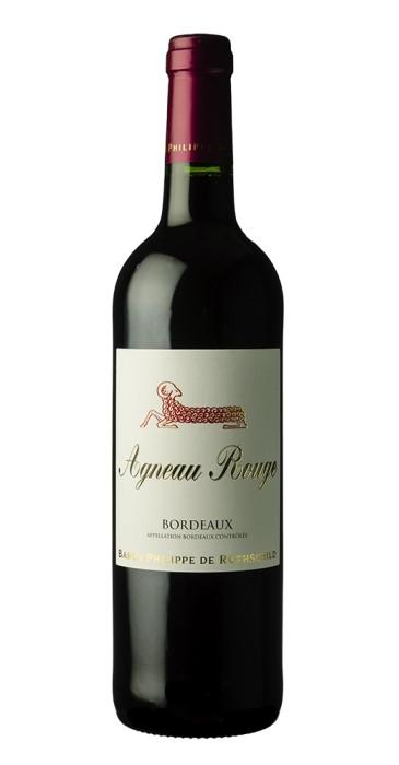 """Bordeaux """"Agneau rouge"""" Baron Ph. de Rothschild"""