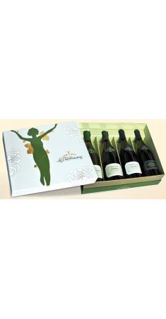 copy of Caisse bois 2 bouteilles et 2 verres - LASCAUX