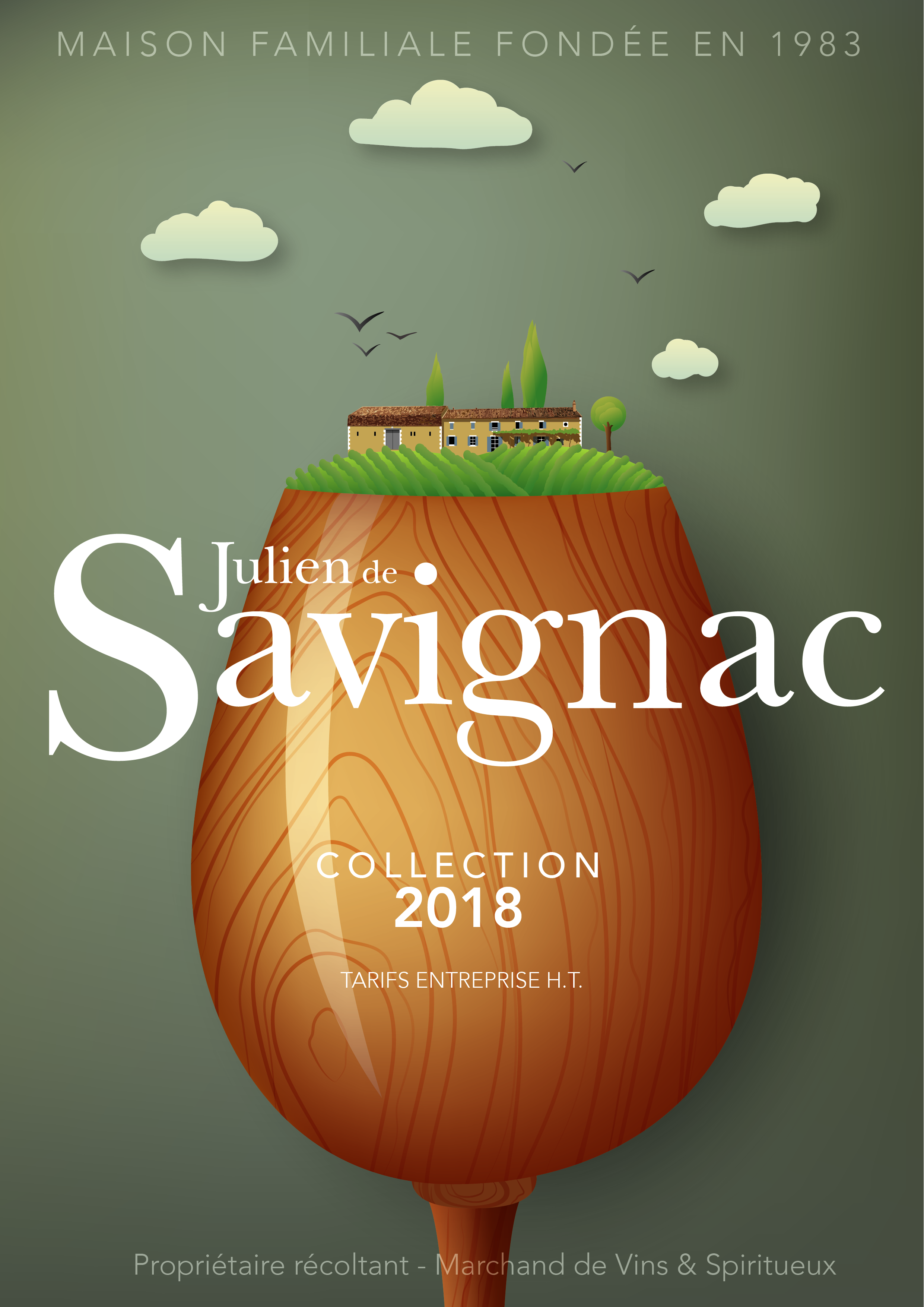 Catalogue prix julien de savignac - plus de 4000 références en Vins et Spiritueux du monde